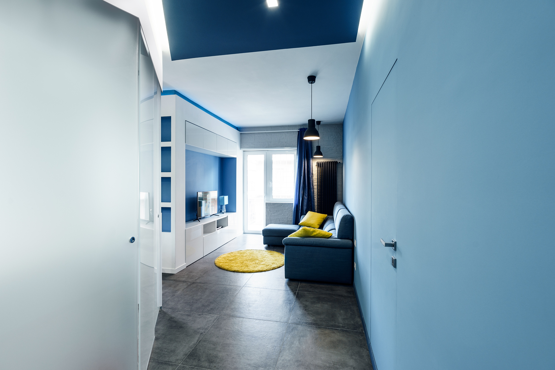 Prismatic Blue Apartment